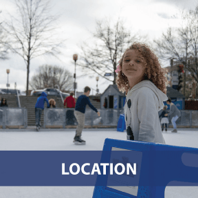 Graphic Text Button: Go to Rink Location