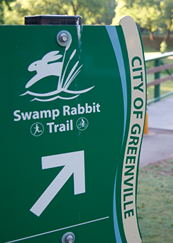 Swamp Rabbit Trail directional sign